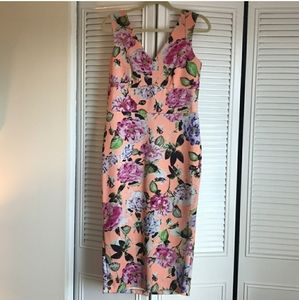 Floral scuba midi dress Perfect for spring wedding